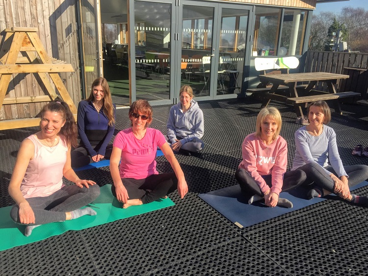 Pilates at the ski club