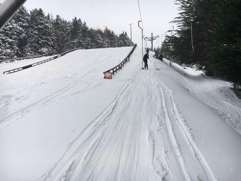 Real snow at Kilternan