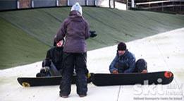 beginning snowboarding