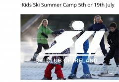 Summer ski camp for kids and teens