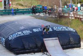 big bag at the Ski Club of Ireland on world snow day
