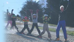 kindergarten skiing on Saturday